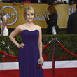 Melissa Rauch Wore a Deep Purple Pleated Gown at the 2013 SAG Awards