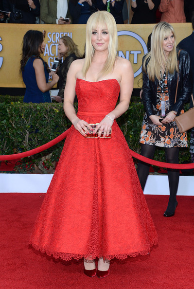 More Pics of Kaley Cuoco Strapless Dress (3 of 9) - Kaley Cuoco Lookbook - StyleBistro