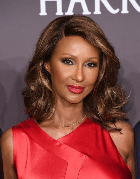 Iman kept it classic and glam with these bouncy curls at the amfAR New York Gala.