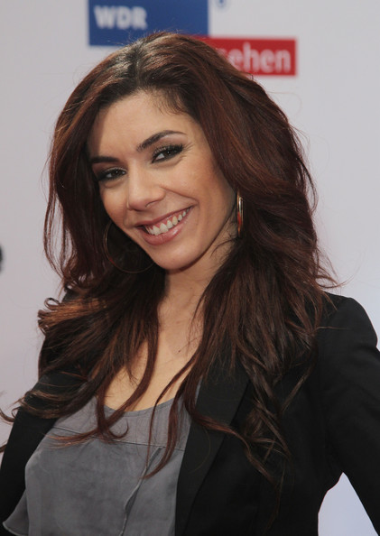 Edita showed off her wavy long locks while attending the 1Live Krone Awards.
