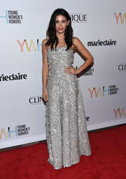 Jenna Dewan-Tatum got all glitzed up in a fully embellished strapless gown by Jenny Packham for the Marie Claire Young Women's Honors.