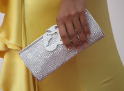 Eva la Rue's jewel-embellished clutch added major sparkle to her outfit at the 2009 ALMA Awards.