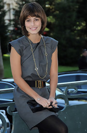 An exquisite gold chain necklace only made Alessandra Mastronardi's polished getup that much more elegant.