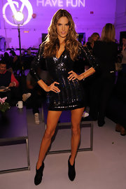 Alessandra shined in this sequined mini at the Victoria's Secret fashion show.