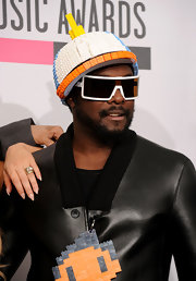 Leave it to Will.I.Am wears a decorative Lego hat to the AMAs.
