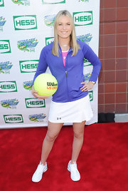 Lindsey Vonn showed off her toned calves with this tennis mini-skirt.