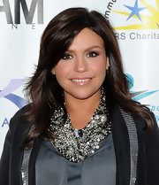 Rachel Ray showed off her star style while hitting a benefit in New York City. She paired her dazzling necklace with a blazer.