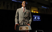 For a man out of his regular uniform, Cam Newton looked right at home in this perfectly tailored suit.