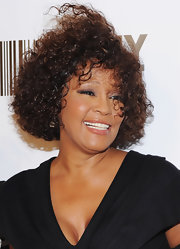 Whitney Houston rocked her signature hairstyle at the 2010 Keep a Child Alive Black Ball.