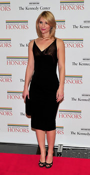 Claire Danes looked classy in a pair of black strappy heels.