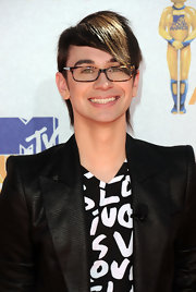 Christian Siriano was all smiles as he walked the red carpet and showed off his emo inspired haircut.