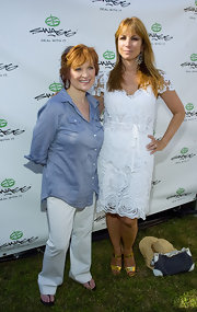 Caroline Manzo kept it cool and casual in a blue button-down and white pants at the 2010 Mercedes-Benz Polo Challenge.