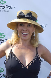 Ramona Singer looked adorable in a sun hat at the Mercedes Benz Polo Challenge.