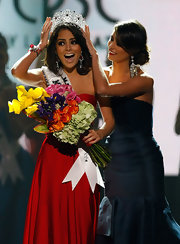 Jimena dons the ultimate gemstone tiara...and secures the Miss Universe 2010 title.