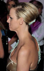 Charlene Wittstock attended the 2010 Monte Carlo Rose Ball wearing her hair in a classic French twist with a beaded barrette.