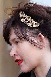 Paz de la Huerta tamed her windswept locks with a gemstone-inlaid comb at the 2010 Sundance Film Festival.