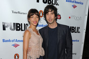 Actress Zoe Buckman and actor David Schwimmer attend the 2010 Public Theater Gala at the Delacorte Theater on June 21, 2010 in New York City.