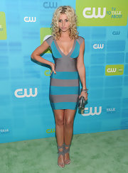 Alyson Michakla showed off her assets while hitting the carpet at the CW UpFront party in Hollywood.