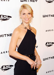 Claire Danes showed off her side swept updo while hitting the 2010 Whitney Gala in New York.