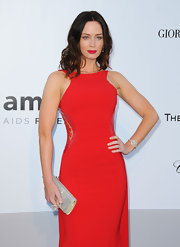 Actress Emily Blunt showed off her sleek curls at the 2010 amfAR Gala.