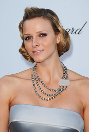 Charlene Wittstock wore a pearl and diamond necklace with crystal accent at amfAR's 2010 Cinema Against AIDS gala.