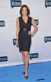 This well-tailored pin-stripe dress was a polished choice for LuAnn at the 2011 Bravo Upfront event in NYC.