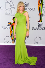 Judith looked phenomenal at the CFDA Awards in a lime green one-shoulder evening gown.
