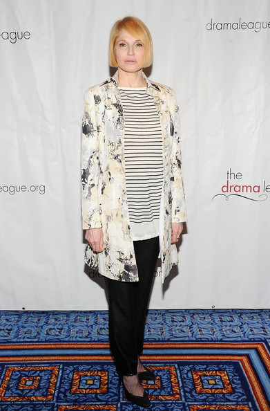 More Pics of Ellen Barkin Bob (1 of 3) - Short Hairstyles Lookbook - StyleBistro [clothing,fashion,outerwear,fashion model,footwear,street fashion,fashion design,fashion show,leggings,coat,ellen barkin,drama league awards,luncheon,marriot marquis,new york city,ceremony]