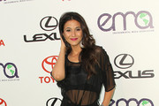 Emmanuelle Chriqui is Chic on the Red Carpet in Metallic Evening Pumps