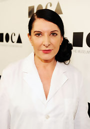 Marina Abramovic looked oh-so-lovely in a side-swept updo.