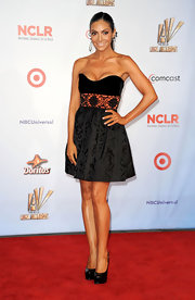Courtney Mazza strutted down the red carpet of the NCLR ALMA Awards in a stunning black cocktail dress.