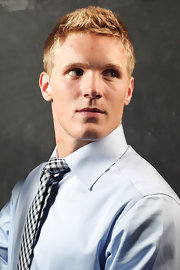 Gabriel Landeskog accentuated his boyish good looks with a spiked 'do.