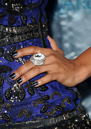 Tiffany Hines showed that a girl can't go wrong with a little bit of bling. She spiced up her frock with a diamond cocktail ring.