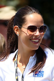 Ana Ivanovic was fresh-faced at the 2011 Presidents Cup with her long brown hair in a ponytail.