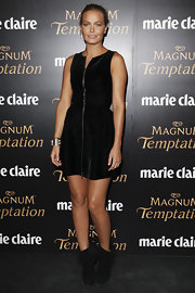 Lara wore a zip-up black cocktail dress for the Marie Claire Awards.
