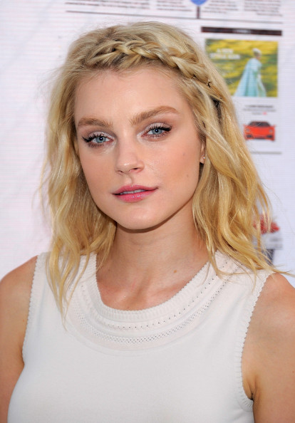More Pics of Jessica Stam Tank Top (1 of 6) - Tops Lookbook - StyleBistro [hair,blond,face,hairstyle,eyebrow,lip,beauty,chin,long hair,surfer hair,jessica stam,off duty party,summer with off duty,the lot,new york city,the high line,party]