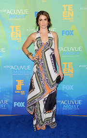 What better time to get playful with prints than at the Teen Choice Awards? Nikki donned a tribal inspired print maxi dress for the Teen Choice Awards.