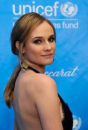 Diane Kruger wore her long locks in a low ponytail with loose tendrils at the 2011 Unicef Ball.