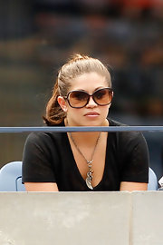 Danielle Fishel's oversized sunnies were a chic addition to her casual ensemble at the 2011 US Open.