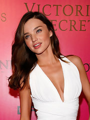 Miranda Kerr's hair was long and flowing at the 2011 Victoria's Secret Fashion Show after party.