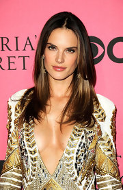 Alessandra Ambrosio kept her long tresses sleek and straight for the 2011 Victoria's Secret fashion show viewing party.