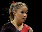 Shawn Johnson wore her hair in a French braid while competing at the Visa Gymnastics Championships.