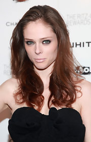 Coco Rocha wore the palest shade of pink to the Whitney Museum studio party. Her barely-there pout was the perfect complement to her super smoky eyes.