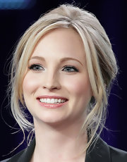Candice Accola's gorgeous updo at the 2011 Winter TCA Tour had a retro feel.