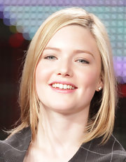 Holliday Grainger wore her blonde bob down at at 2011 Winter TCA Tour.