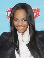 China Anne McClain wore her layered hair down during the Disney Channel event.