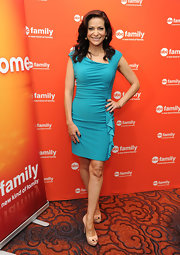 Constance Marie attended the 2012 ABC Family Upfront event wearing a nude pair of peep toe pumps.