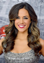 Jana Kramer framed her gorgeous white teeth with a bright berry lipstick at the 2012 American Country Awards.