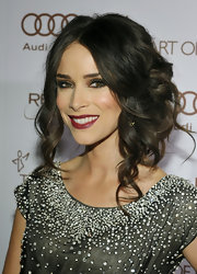 Abigail Spencer wore her masses of dark hair in pinned-up curls at the Art of Elysium's Heaven Gala.