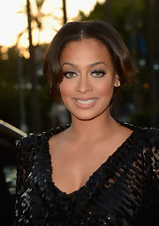La La Anthony wore her hair in a lovely center-parted updo at the pre-BET Awards celebration.